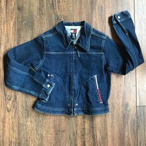Girl's Tommy Hilfiger Embroidered Denim Jacket